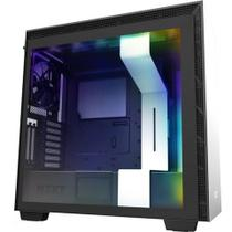 Gabinete Gamer Nzxt H710i-W1 White/Black Tempered Glass Mid Tower C/Janela - CA-H710I-W1