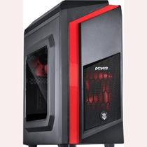 Gabinete Gamer Pcyes Mid Tower Dwarf Fan Com Lateral em Acrílico Led
