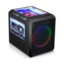 Gabinete Gamer RGB K-Mex CG-03RC Microcraft III Preto -