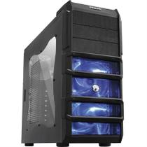 Gabinete Gamer Rhino Com 3 Fan De 120 Mm Com Led Azul Pcyes