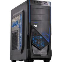 Gabinete Mid Tower Java Azul Com2 Fans LED Azul E Lateral Em Acrílico PCYes. - Pc yes