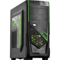 Gabinete Mid Tower Java Verde Com2 Fans LED Verde E Lateral Em Acrílico PCYes. - Pc yes