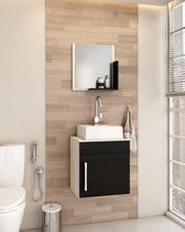 Gabinete P/Banheiro C/cuba Q32 e Espelheira Liz 45cm - Compace
