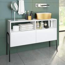 Gabinete para Banheiro 2 Portas Chiaro Estilare Branco -