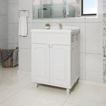 Gabinete Para Banheiro Astra GAB2-BR1 2 Portas Branco Com Lavatório -