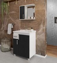Gabinete para Banheiro Balcony Prisma 65cm Supremo Preto -