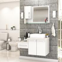 Gabinete para Banheiro C/cuba Q39 e Espelheira Legno 830 - Compace