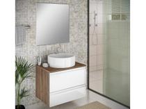 Gabinete para Banheiro com Cuba 1 Porta Itatiaia - Brisa