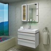 Gabinete para Banheiro com Cuba e Espelheira Grécia Balcony Branco Supremo/Merlot -
