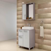 Gabinete para Banheiro com Espelheira Lux 60 Balcony Supremo/Connect -