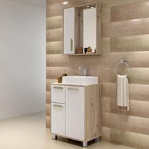 Gabinete para Banheiro com Pés Balcony Lux 60cm Supremo Cabernet -
