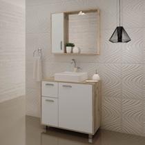 Gabinete para Banheiro com Pés Balcony Lux 75cm Supremo Cabernet -