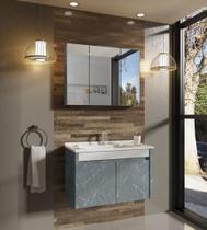 Gabinete para Banheiro com Pés Balcony Paris 80cm com Cuba -