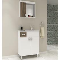 Gabinete para Banheiro com Pés Balcony Quito Merlot 65cm -