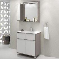 Gabinete para Banheiro com Pés  Balcony Ravena 80cm Supremo Connect -