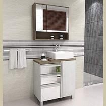 Gabinete para Banheiro com Pés Cuba Balcony Torino 70cm- Ártico Merlot -