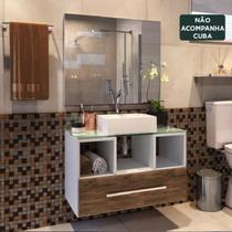 Gabinete Para Banheiro Completo Viena Mdf Balcão Espelho - Outlet Das Fábricas