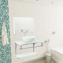 Gabinete Para Banheiro De Vidro Haití 60 Cm Com Torneira Link - Lopazzi