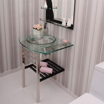Gabinete Para Banheiro De Vidro Mondrian Astra GP-M Transparente -
