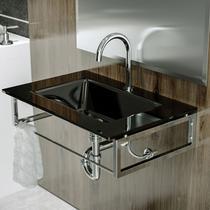 Gabinete Para Banheiro De Vidro William Astra GP-W PR Preto -