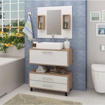 Gabinete para Banheiro Sem Cuba, Espelheira e Gaveteiro Espresso Móveis -