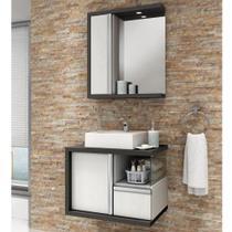 Gabinete para Banheiro Suspenso com Cuba Balcony Blanc Artico 65cm -