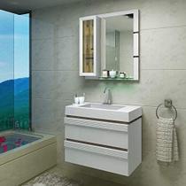 Gabinete para Banheiro suspenso com Cuba Grécia Balcony Merlot 80 cm -