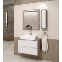 Gabinete para Banheiro Suspenso com e Cuba Balcony Ravena 80cm -