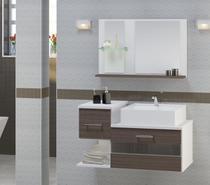 Gabinete Para Banheiro Tróia com Cuba e Espelheira - Rustico - Atitudelar Acabamentos