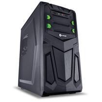 Gabinete PC Gamer Vinik Blazing V2 2 Baias Preto com Verde 25334 -
