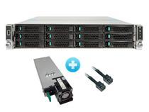 Gabinete Server Intel R2312wtxxx 2u P/ Placa S2600wt+Fonte1100w Ac 80plus Plat.+Kit C/ 2 Cabos 800mm -