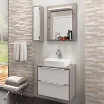 Gabinete Suspenso para Banheiro com Espelheira Ravena 60 Balcony (Não acompanha Cuba) Supremo/Connect -