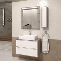 Gabinete Suspenso para Banheiro com Espelheira Ravena 80 Balcony Supremo/Connect -