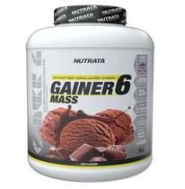 Gainer 6 mass sabor chocolate 3kg nutrata -