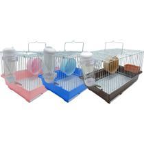 Gaiola Para Hamster Pequena Colorida Com Drinker Chalesco -