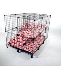 Gaiola para Roedores, Porquinho da Índia, Mini Coelho  90x80x120 - Expoferro