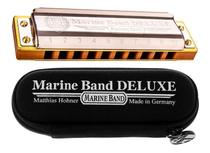 Gaita Harmônica Hohner Marine Band Deluxe em Sol Com Estojo -