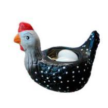 Galinha Grande em Cerâmica Porta Ovos - Retrofenna