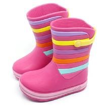 Galocha Infantil Plugt Acqua Listras Pink -