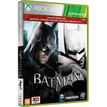 Game Batman  Arkham Asylum + Arkham City - Xbox 360 -