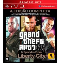 Game Grand Theft Auto IV & Episodes From Liberty City: The Complete Edition - PS3 - Rockstar Games