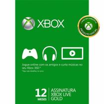 Game microsoft xbox live - 12 month gold card