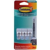 Gancho Command 3m P/ Cozinha Pequeno Adesivo 3pçs Plástico -