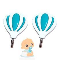 Gancho De Parede Balão Blue Multiuso Adesivo - Abbmix