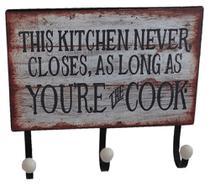 Gancho de parede kitchen vintage retro - Tok Vintage