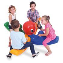 Gangorra Infantil 4 Lugares Polvo Maluco Xalingo Brinquedos Colorido -