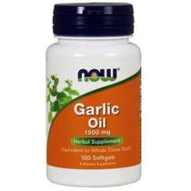 Garlic Oil Now Foods - Óleo De Alho 1500mg - 100 Cápsulas -