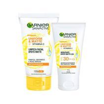 Garnier Skin Cuidados Faciais Kit  Hidratante Facial + Limpeza Facial -