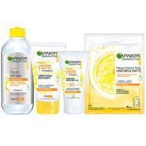 Garnier Skin Vitamina C Kit  Água Micelar + Hidratante Facial + Máscara Facial + Limpeza Facial -