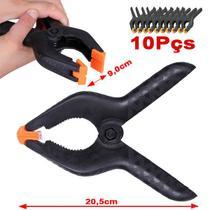 """Garra Pony Clamp 3"""" Kit 10UN - Fundo Infinito - CL10L - 9,0cm - Leadwin"""